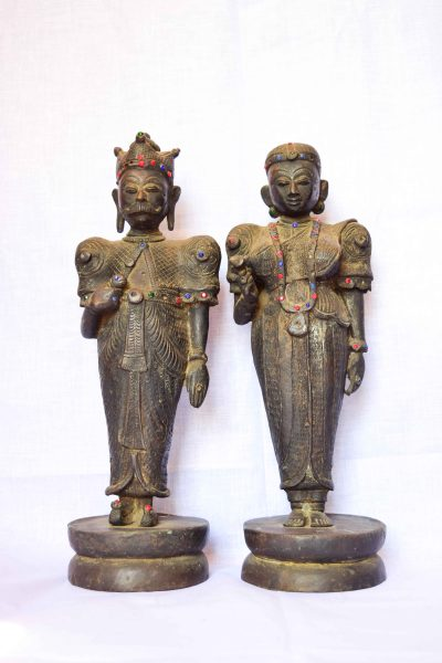 Bronze-Kandyan King and Queen